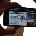 Webseiten lassen sich auf dem großen Bildschirm ohne lästiges Zoomen betrachten. (Bild: netzwelt)