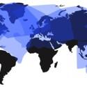 Die Langstreckenflüge nach Afrika und Südamerika müssen ohne FlyNet auskommen, wie diese Karte zeigt. (Bild: Panasonic Avionics)