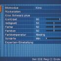 Das Menü des Sony VPL-HW 15 Projektors. (Quelle: Netzwelt)