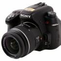 Spiegelreflexkamera mit CMOS-Sensor im APS-C-Format und 16,2 Megapixeln Auflösung.