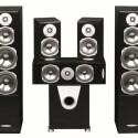 Das 5.1.-Surround-Set Quadral Rhodium besteht aus zwei Frontboxen, zwei Tieftönern, einem Hochtöner und einem Subwoofer und kostet 2.200 Euro. (Bild: netzwelt)