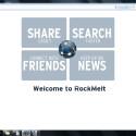 Inhalte teilen, Suchen, die neuesten Nachrichten sofort erhalten und mit den Freunden in Kontakt bleiben - all dies soll mit RockMelt direkt über den Browser möglich sein. (Bild: Screenshot)