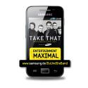 Für Fans interessant: Das Galaxy Ace ist das offizielle Smartphone zur Tour der früheren Boyband Take That. (Bild: Samsung)