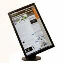 23 Zoll großer Monitor mit Pivot-Funktion, also einem ins Hochformat drehbarem Display.