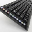 Elf der 19 Facebook-Tasten des Social Network Access Keybords befinden sich auf der linken Seite der Tastatur. (Bild: Social Keyboards)