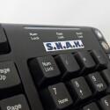 Die Tasten des S.N.A.K. wurden in eine Tastatur der Firma Dynex integriert.