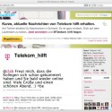 Die Deutsche Telekom gibt sich bei Twitter und Facebook als Support-Musterschüler. (Bild: Netzwelt)