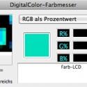 Mit dem DigitalColor-Farbmesser kann der Nutzer beliebige RGB-Werte leicht ablesen. (Bild: Netzwelt)