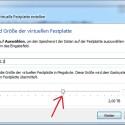 """Im Folgefenster bestimmen Sie nun die Größe der virtuellen Festplatte mit Hilfe des Reglers. Nach Klicks auf """"Weiter"""" und """"Abschließen"""" gelangen Sie zurück ins Hauptfenster. (Bild: Screenshot)"""