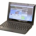 Netbook mit 10,1 Zoll großem Bildschirm mit 1.280 x 720 Pixeln Auflösung und AMD-Hardware.