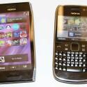 Nach dem X7 kündigt Nokia mit dem E6 (rechts) ein weiteres neues Symbian-Smartphone an. Zielgruppe sind Business-Nutzer. (Bild: netzwelt)