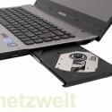Der DVD-Brenner und einer der USB-Anschlüsse.