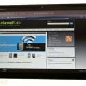 Der Tablet-PC kann auch Flash-Inhalte wiedergeben. (Bild: netzwelt)