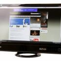 24 Zoll großer Bildschirm mit IPS-Panel und LED-Hintergrundbeleuchtung.