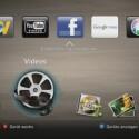Im Hauptmenü des BD-C 5900 sind die fünf wichtigsten Internetdienste verankert, zum Beispiel Youtube und Facebook. (Bild: netzwelt)