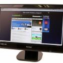 24 Zoll großer Bildschirm mit Full-HD-Auflösung und LED-Hintergrundbeleuchtung.