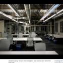 Die Großraumbüros kommen dagegen weitestgehend ohne Farbe aus. (Bild: Techcrunch)