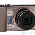 Kompaktkamera mit GPS-Empfänger zur Standortbestimmung.