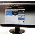 23 Zoll großer Bildschirm mit Full-HD-Auflösung.