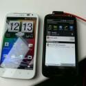 Eine Familie: Das HTC Sensation XL (links) und das HTC Sensation XE. (Bild: netzwelt)