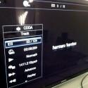 Die Options-Taste der Fernbedienung ruft Titelinformationen während der Wiedergabe von Multimedia ab. (Bild: netzwelt)