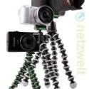 Drei-Bein-Stative für unterschiedliche große Kameras.