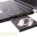 DVD-Brenner, zwei USB-, ein kombinierter USB-eSATA- und ein LAN-Anschluss sowie eine Audiobuchse.