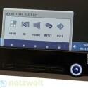 Die Tasten sind nicht beschriftet, aber das OnScreen-Menü erscheint direkt über ihnen. (Bild: netzwelt)