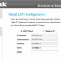 D-Links Software zur Erstinstallation des NAS-Systems hilft auch bei der Einstellung der Netzwerkparameter. (Bild: Screenshot)