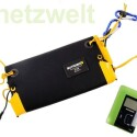 Das Solarpack von Sunload besteht aus Solarpanel und Charger. (Bild: netzwelt)