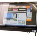 Die gesamte Hardware befindet sich direkt im Gehäuse hinter dem 23 Zoll großen Full-HD-Touchscreen.