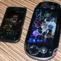 Der Größenvergleich zwischen Samsung Galaxy S (links) und Sony PlayStation Vita (rechts) zeigt der Handheld ist nicht für die Hosentasche geeignet. (Bild: netzwelt)