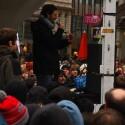 Während der Kundgebung sprachen unter anderem Mitglieder der Piratenpartei und des Chaos Computer Clubs. (Bild: netzwelt)
