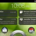 Auf Wunsch zeigt der Sperrbildschirm auch Benachrichtigungen an. (Bild: HTC Hub)