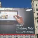 Das Galaxy Note 10.1 war die MWC-Neuheit von Samsung. Der Hersteller bewarb in Barcelona das Produkt groß in der Stadt. (Bild: netzwelt)