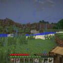 Es regnet. Man sollte sich den gelaufenen Weg sehr gut einprägen. Minecraft ist unendlich groß! (Bild: netzwelt)