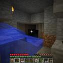 Hier fließt Wasser aus der Wand in Minecraft-Manier nur sieben Felder weit. Keine Flutgefahr. (Bild: netzwelt)