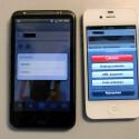 Die Foto-Optionen sind bei der Android-App (links) noch eingeschränkt. (Bild: netzwelt)