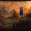 Der Einstieg ins Spiel: Hier lässt sich bei Bedarf auch der Held, der mit seiner aktuellen Ausrüstung erscheint, wechseln. (Bild: Screenshot netzwelt)