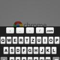 Das Tastatur-Layout ist ein wenig anders als bei Safari. (Bild: Screenshot Chrome-App)