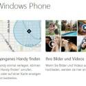 Genau wie im iPhone ist auch in allen Windows Phones eine Ortungsfunktion ab Werk integriert. Auch diese muss jedoch zuvor aktiviert werden. (Bild: Screenshot windowsphone.com)