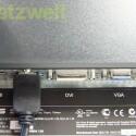 Etwas versteckt und nicht besonders bequem zu erreichen sind die zwei HDMI und die DVI- und VGA-Anschlüsse sowie der Audio-Ausgang. (Bild: netzwelt)
