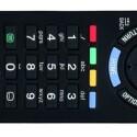 Die Fernbedienung des Sony-Fernsehers verfügt sowohl auf der Vorder- als auch auf der Rückseite über einen Ein-/Ausschalter. Die Steuerung klappt problemlos. (Bild: netzwelt)
