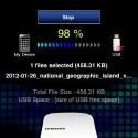 Smartphone-oder Tablet-Dateien kann man via App bei Bedarf als Backup auf USB-Speicher spielen. Auch direktes Brennen auf CDs oder DVDs ist möglich. (Bild: netzwelt)