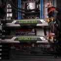 Die zwei Geforce GTX 690-Grafikkarten im SLI-Verbund. (Bild: netzwelt)