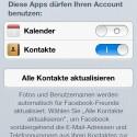 Unter anderem bietet das System nun eine tiefere Facebook-Integration. (Bild: Screenshot)