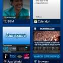 Der Startbildschirm zeigt alle laufenden Apps an. (Bild: RIM)