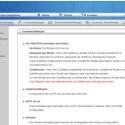 Bei Aufruf der Hauptseiten werden Funktionen kurz erläutert. (Bild: Screenshot)