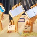 Für jede Hand die richtige Größe: Galaxy S3 Mini, Galaxy S3 und Galaxy Note II (von links). (Bild: netzwelt)