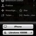 Von jeder Audioapp aus lassen sich dann AirPlay-Empfänger auswählen. (Bild: netzwelt)